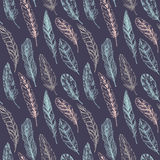 Seamless pattern. Hand drawn vector vintage illustration Royalty Free Stock Images