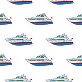 Seamless pattern. Hand drawn water kids toy yacht Royalty Free Stock Photos