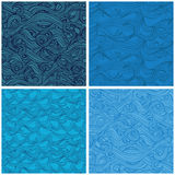 Seamless pattern with hand-drawn waves Royalty Free Stock Photography