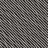 Seamless pattern with hand drawn waves. Abstract background with wavy brush strokes. Black and white freehand lines Royalty Free Stock Image