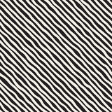 Seamless pattern with hand drawn waves. Abstract background with wavy brush strokes. Black and white freehand lines Stock Photography