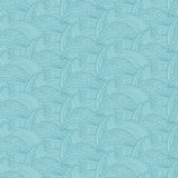 Seamless pattern  hand drawn waves and lines .Vector illustr Royalty Free Stock Images