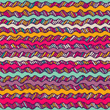 Seamless pattern with hand drawn wavy lines Stock Photos