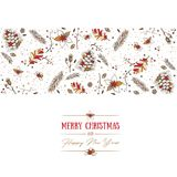 Christmas pattern and greeting card Royalty Free Stock Image