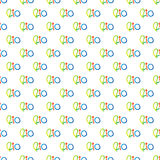 Seamless pattern with hand drawn word rio with colorful, isolate. D on white background. Typographic and calligraphic print Stock Photo