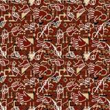 Seamless hand pattern Stock Photo
