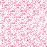 Seamless pattern with hand lettering Mother`s Day. Template for a banner, poster, flyer, invitation Stock Photos