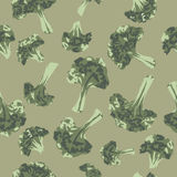 Seamless pattern with hand painted broccoli. Seamless pattern with hand painted broccoli cabbage. Great for agriculture, restaurant, cafe, grocery, food ads Royalty Free Stock Image