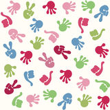 Seamless pattern with hand symbol Stock Photo
