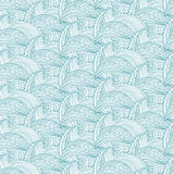 Seamless pattern with hand  waves and lines .Vector illustr Stock Images