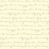 Seamless pattern of hand written text Stock Image