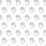 Seamless pattern with handbreadth. Vector illustration Royalty Free Stock Photo
