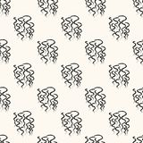 Seamless pattern with handdrawn figures. Royalty Free Stock Images