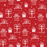Seamless pattern with handdrawn gift boxes Stock Photo