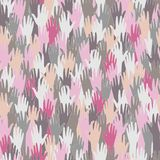 Seamless pattern with hands Stock Photo