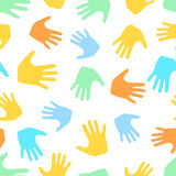 Seamless pattern from hands. Abstract backdrop, background. From human palms Royalty Free Stock Photo