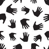 Seamless pattern from hands. Abstract backdrop, background. From human palms Stock Photo