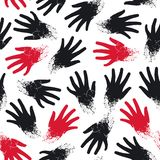 Seamless pattern of the hands Royalty Free Stock Photography