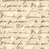 Pattern with handwriting elements Stock Photo