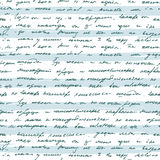 Seamless pattern with handwriting text Royalty Free Stock Images