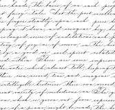 Seamless pattern with handwriting text. Stock Images