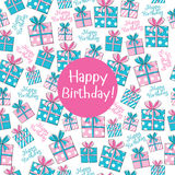 Seamless pattern Happy Birthday Royalty Free Stock Photos