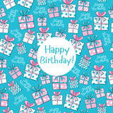 Seamless pattern Happy Birthday Stock Photos