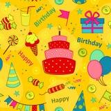 Seamless pattern happy birthday Royalty Free Stock Photos