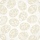 Seamless pattern with Happy Easter eggs. Stock Photos