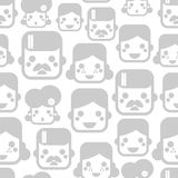 Seamless pattern with happy family faces. Stock Images
