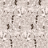 Seamless pattern of happy laughing people. Royalty Free Stock Image