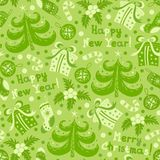 Seamless pattern Happy New Year Stock Image