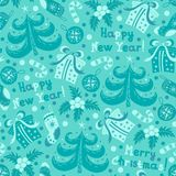 Seamless pattern Happy New Year Royalty Free Stock Photography