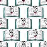 Seamless pattern of a happy science textbook Royalty Free Stock Image