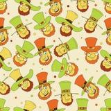 Seamless pattern for Happy St. Patricks Day celebration. Stock Photos