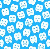 Seamless pattern with Happy teeth Stock Images