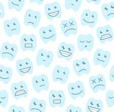 Seamless pattern with Happy teeth Stock Image