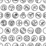 Seamless pattern for hardware store. For web and wrapping paper design royalty free illustration