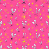 Seamless pattern of the hare and the sun Royalty Free Stock Photo