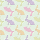 Seamless pattern with hares Stock Image