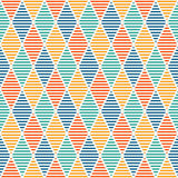 Seamless pattern with hatched diamonds. Argyle wallpaper. Rhombuses and lozenges motif. Repeated geometric figures. Abstract background. Modern style digital Royalty Free Stock Images