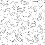 Seamless pattern with hats. Vector illustration Royalty Free Stock Images