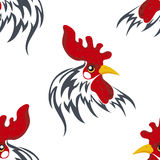 Seamless pattern with the head of a Royalty Free Stock Image