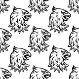 Seamless pattern with head of heraldic eagle Royalty Free Stock Photography
