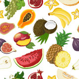 Seamless pattern with healthy fruits Royalty Free Stock Photos