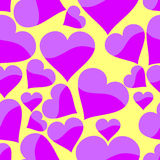 Seamless pattern with heart. Vector illustration Stock Photography