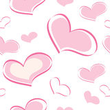 Seamless pattern of the heart Stock Photography