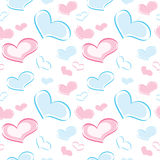 Seamless pattern of the heart Royalty Free Stock Photography