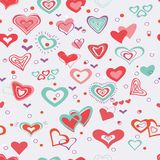 Seamless pattern of heart. Seamless pattern of colorful hearts Stock Images