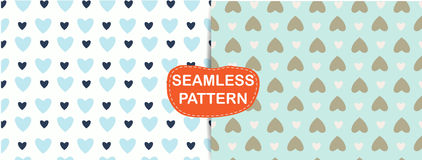 Seamless pattern heart abstract, Royalty Free Stock Photography